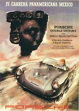Vintage Porsche Carrera Panamericana Mexico Car Racing Poster