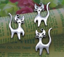 retro style lovely alien cat alloy charms pendants 22*13*1mm
