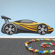 Black & Yellow Race Car Wall Decal Sticker WS-41155
