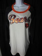 Chicago Bears Women's NFL Apparel Glitter Mesh Sleeve Shirt