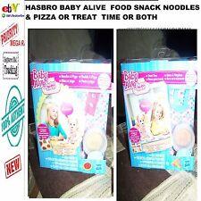 HASBRO BABY ALIVE  muñeca COMIDA Pizza y Pasta O hora de la merienda O TANTO