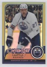 2008 O-Pee-Chee Rainbow Foil Metal 348 Dustin Penner Edmonton Oilers Hockey Card