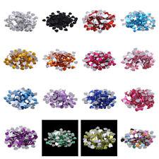 100pcs 12mm Heart Shape Flat Back Resin Crystal Rhinestones Beads Applique Nail