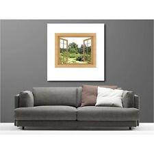 Tableaux toile déco carré fenêtre vue sur jardin 46597024