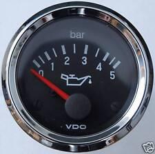 "VDO Chrom ""international"" Öldruckanzeige 5 bar"