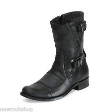 Sendra 8279 Unisex Biker Boots Black Leather Western Handmade Rider Cowboy