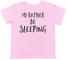 I'd Rather be Sleeping Childrens Kids Short Sleeve Tee T-Shirt