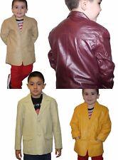 Genuine soft lamb leather kids western cowboy blazer Factory Direct Prices $$$$