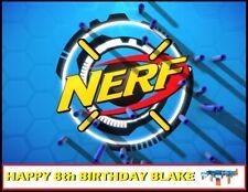 Nerf Gun Edible image Cake topper decoration