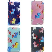 Womens Designer Long Purse Girls Unicorn Print Wallet Ladies Oilcloth Purse
