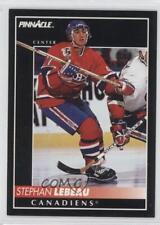 1992 Pinnacle #341 Stephan Lebeau Buffalo Sabres Montreal Canadiens Hockey Card