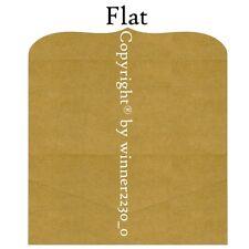 Preminum Quality Kraft Brown DL Wedding Invitation Pocket 10x21cm + Envelope