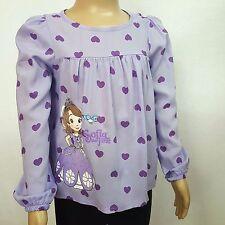 DISNEY blouse top t-shirt SOFIA THE FIRST  2-3 ou 7-8 ans violet NEUVE