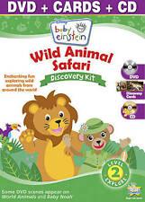 Baby Einstein: Wild Animal Safari Discovery Kit ( DVD + CD + Cards) Mfg. Sealed