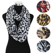 Wholesale Lot of 12Pcs Fashion Stylish High Quality Warm Leopard Infinity Scarf