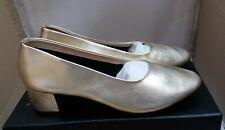 "Emma Hyacinth London ""Jenny"" Ladies Leather Smart Shoes - Metallic Gold"