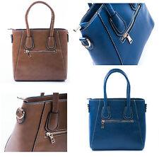 Mujer de las Señoras Diseñador De Moda Bolsos de mano Río Marrón Azul FJ Colección Bolso De Mano Reino Unido