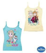 Mädchen T-Shirt Kurzarm Top Frozen Eiskönigin türkis gelb 98 104 116 128 140#801