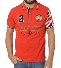 Camisa Polo para hombre valecuatro Inglaterra Rojo Tamaño XS-3XL