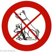 Hund-Hundeverbot-Schild-10 oder 20 cm Ø-Türschild-Warnschild-Hinweis-Hundeschild