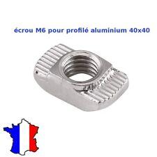 ecrou M6 en T pour profile aluminium 40X40 rainure 8 mm alu  40mm T-Slot /V-SloT