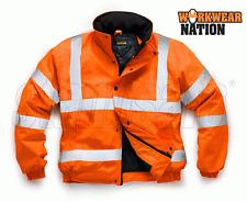 Standsafe High Visibility Work Bomber Jacket Orange Hi Vis HV002