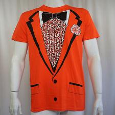 Tuxedo Orange Tux Bow Tie Retro Prom Costume Dumb Dumber Slim-Fit T-Shirt S-2XL