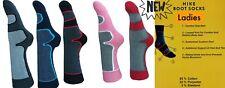 1/2 Pares Para Hombre-Damas Senderismo/Caminar Calcetín/Boot Sock 65% algodón