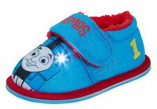 Thomas The Tank Engine Boys Light Up Slippers Kids Fur Lined Flashing Lights