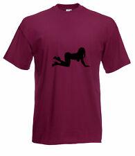 Femelle danseur / stripper silhouette graphique haute qualité 100% coton t shirt