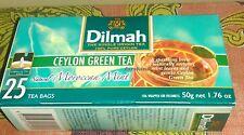 Dilmah Green Tea Moroccan & Mint. Ginger, Cinnamon, Cardamon Ceylon Tea Bags