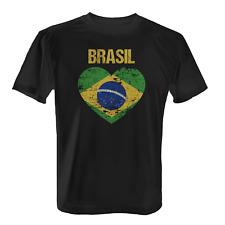 Brasil Herz Flagge Herren T-Shirt Shirt Trikot WM Weltmeisterschaft Brasilien
