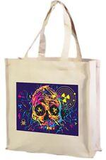 Cranio nucleare Cotone Shopping bag ampia scelta di colori