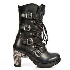 NEWROCK New Rock Womens Boots Style M.TR003 S1 Black Steel Heels