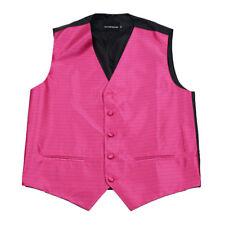 Men's Fuschsia Pink Pattern Tuxedo Vest Formals Weddings Proms Fashion Waistcoat