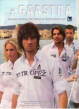 PUBLICITE ADVERTISING 2007  GAASTRA partenaire officiel des Voiles de ST TROPEZ