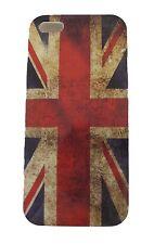 COVER IPHONE 5 PLASTICA BANDIERA INGHILTERRA GREAT BRITAIN FLAG VINTAGE UK