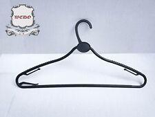 Black Plastic Hanger w/ anti-slip and hooks UK stock