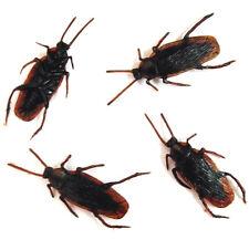 12 BULK REALISTIC COCKROACH creepy novelty bugs toys roach toy fake roaches NEW
