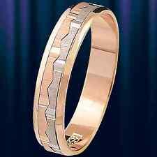 Russische Rose Gold 585 Goldehering Russische Trauringe, Ehering Krone Design