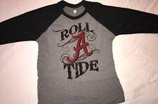 Roll A Tide Ragland 3/4 sleeve shirt  Tri Blend Ultra Soft Alabama Crimson