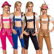 Kniebundhose Wiesn Hose Tracht Trachten Oktoberfest Lederhose Damen Trachtenhose