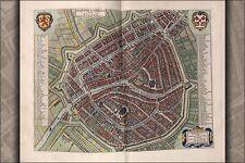 Poster, Many Sizes; Map Of Leyden Leiden Netherlands 1642