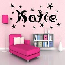 Nombre Personalizado & Estrellas Niña Niño Habitación Adhesivo de Pared Mural