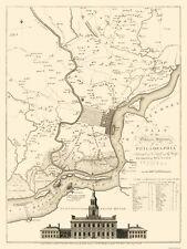 Old City Map - Philadelphia Pennsylvania - 1777 - 23 x 30.69