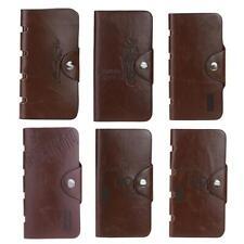 Men PU Leather Wallet Bifold ID Card Holder Purse Checkbook Long Clutch Billfold