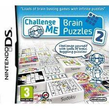 Me desafío: Rompecabezas del cerebro 2 Nintendo DS NDS 2DS 3DS Video Juego Nuevo UK release