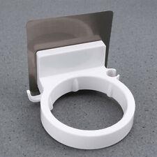 Bathroom No Drilling Hair Dryer Holder Wall Mount Shelf Rack Organizer Supply