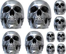 10 Stickers autocollants Skull 3D