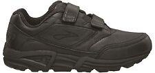 Brooks Addiction Walker Womens Leather Walking Shoes (V-Strap) (Black)